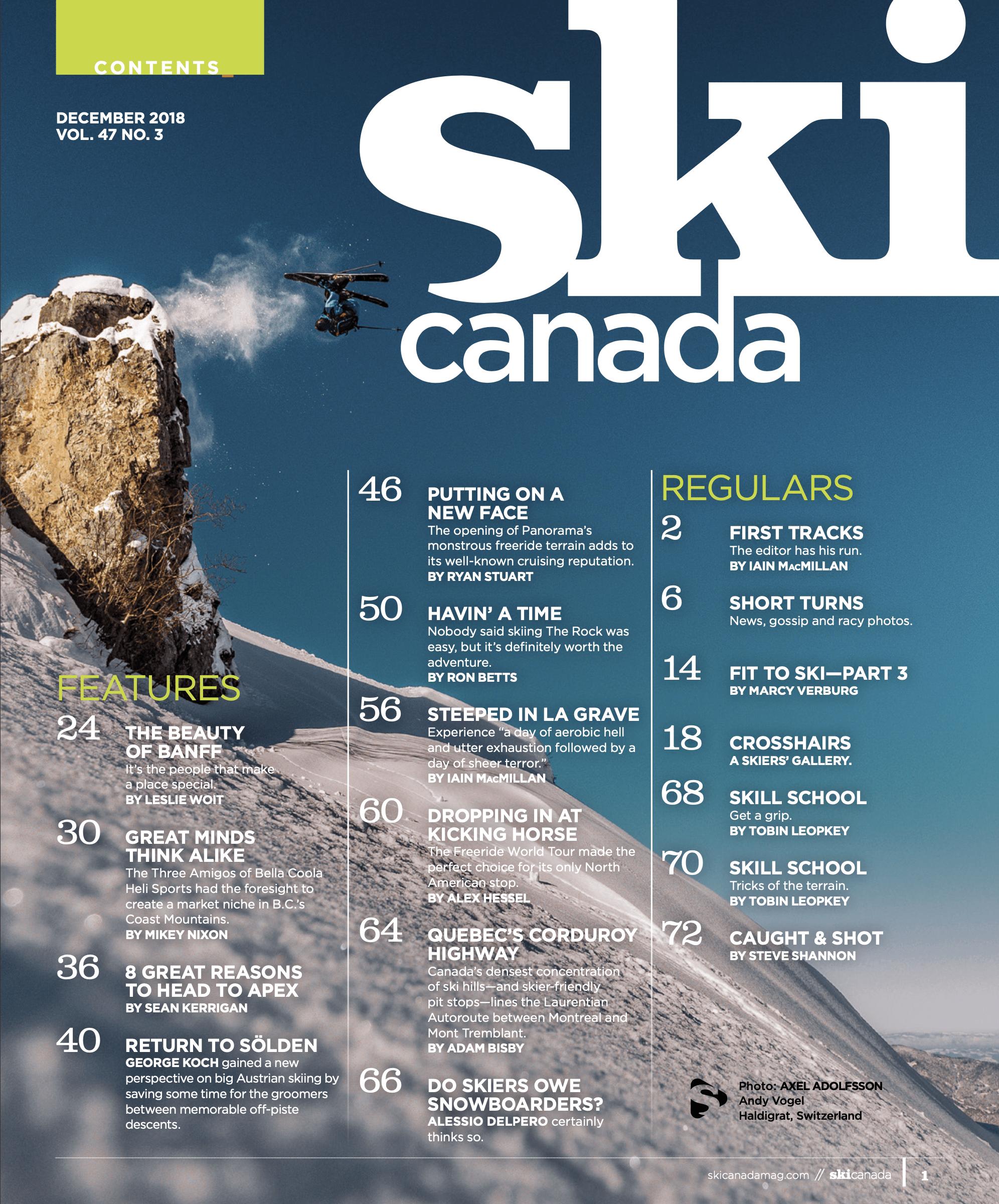 Ski Canada tear sheet